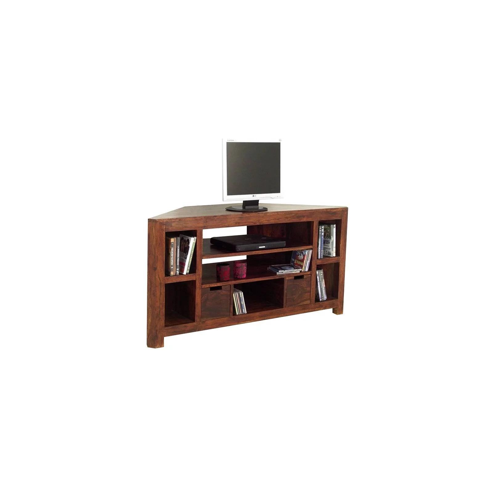 meuble tv d angle tiroirs palissandre zen