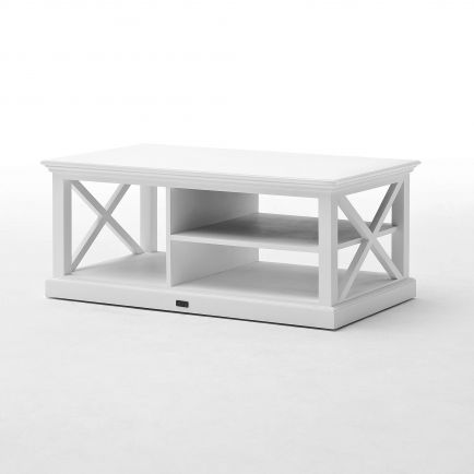 table basse torini blanc acajou