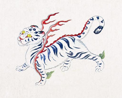 C'est une représentation fantastique du Tigre blanc.
