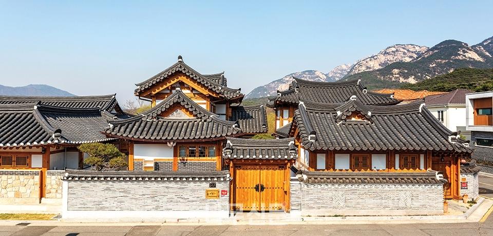 Une photo du village Eunpyeong Hanok à Séoul