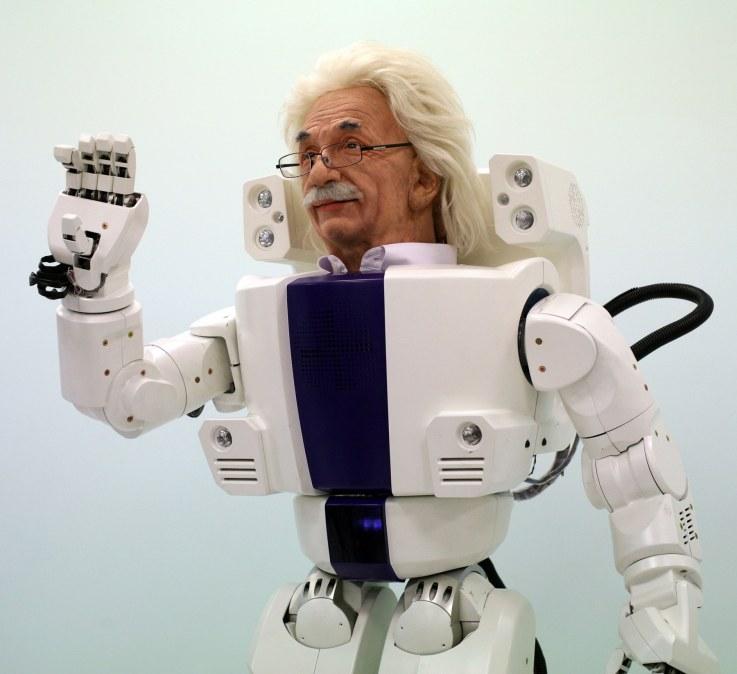 Mascotte de Robot land south korea albert hubo. promotion de de l'économie de la connaissance.