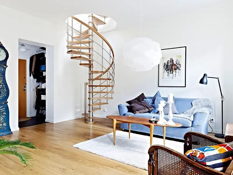 un petit duplex plein de charme planete deco a homes world. Black Bedroom Furniture Sets. Home Design Ideas