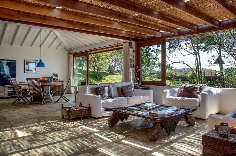 une maison ouverte au br sil planete deco a homes world. Black Bedroom Furniture Sets. Home Design Ideas