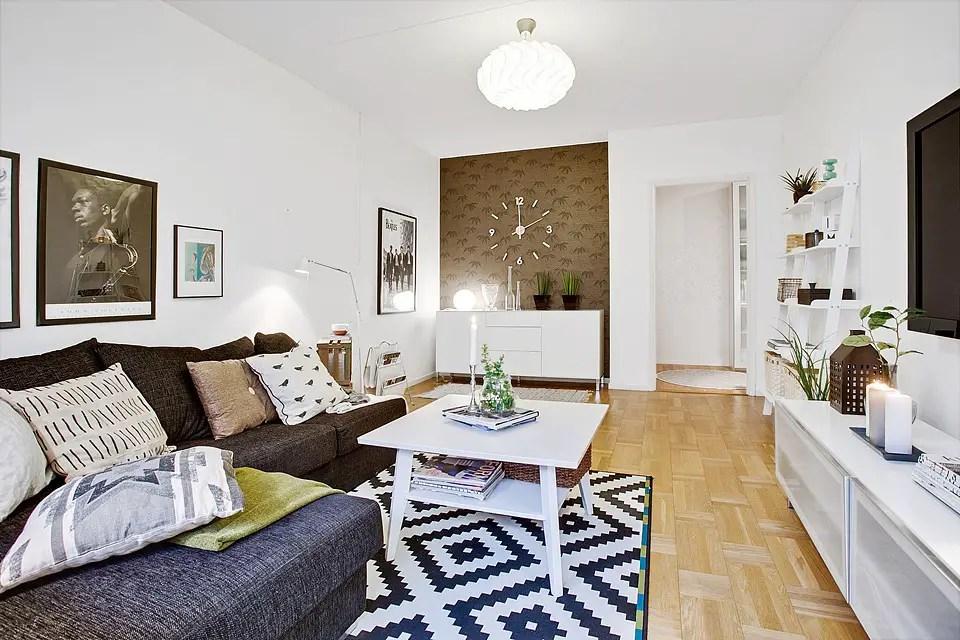 le fameux tapis noir et blanc planete deco a homes world. Black Bedroom Furniture Sets. Home Design Ideas