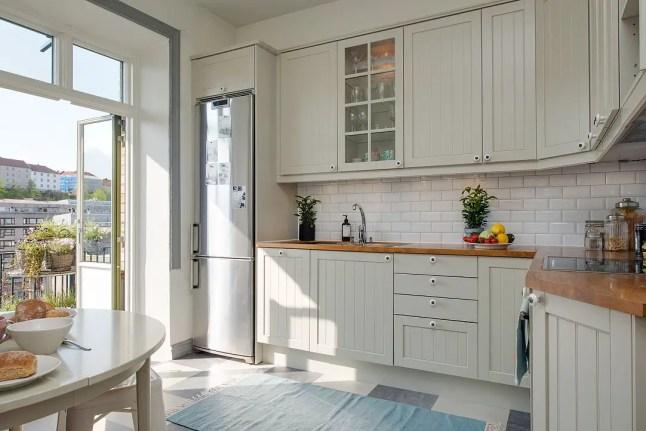 Les petites surfaces du jour un studio vintage et pastel for Cocina nordica canal cocina