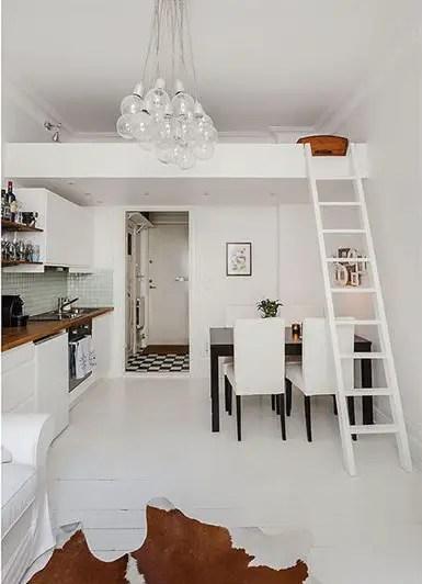 les petites surfaces du jour un lit en hauteur planete deco a homes world. Black Bedroom Furniture Sets. Home Design Ideas
