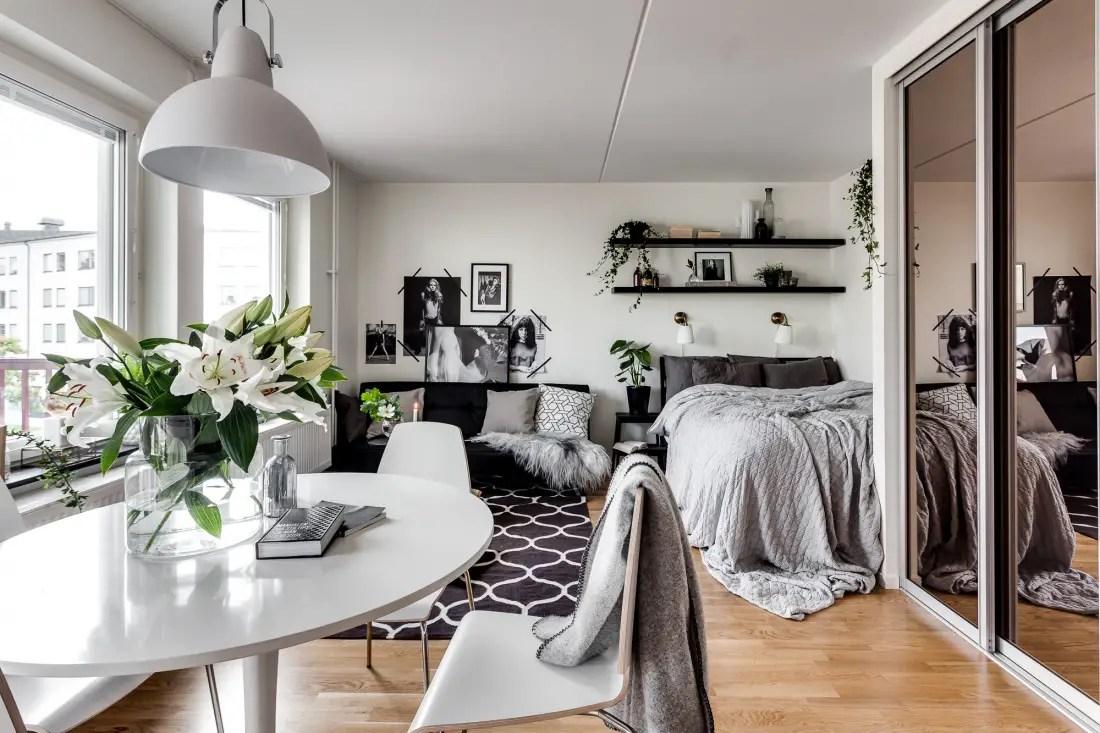 3 apartamentos pequeños y consejos para decorarlos