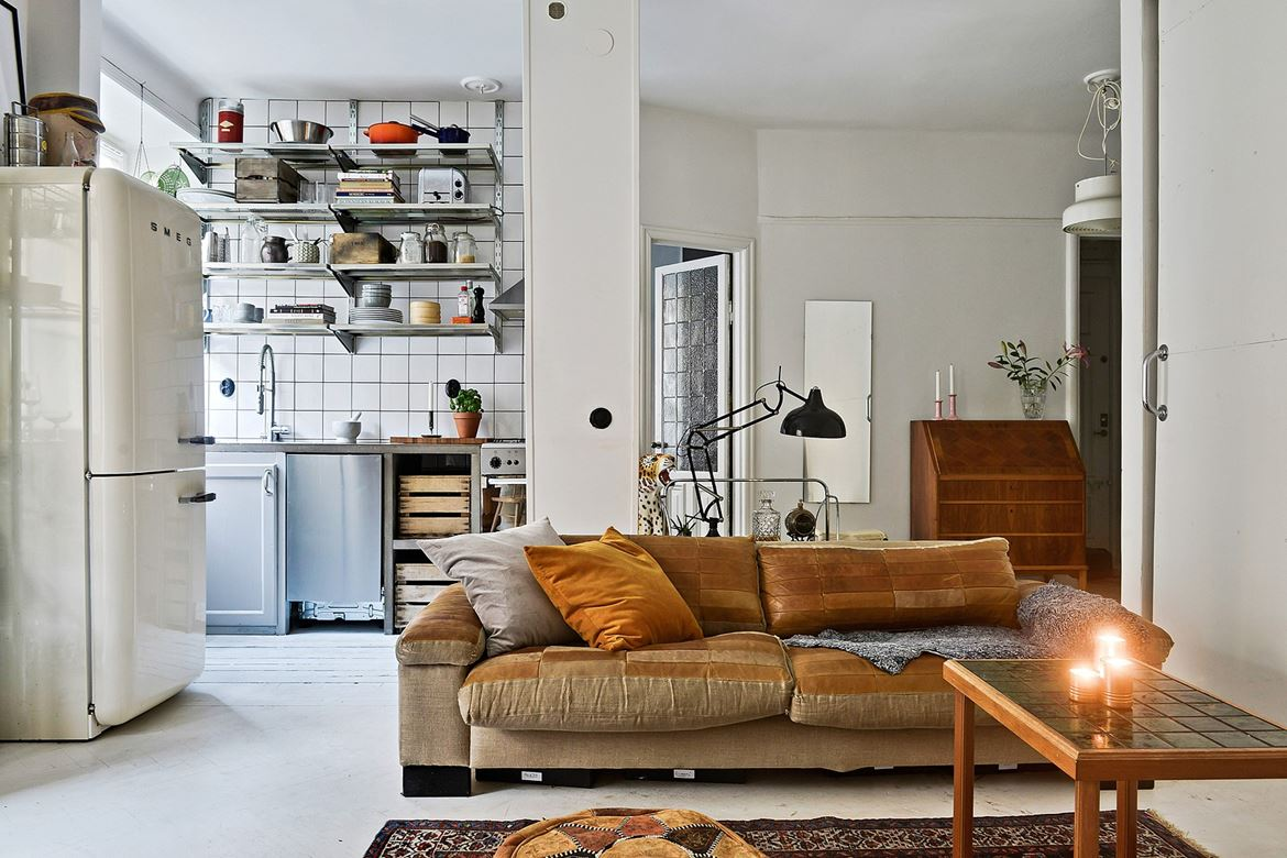 Un petit appartement au look vintage planete deco a homes world - Deco appartement t2 ...