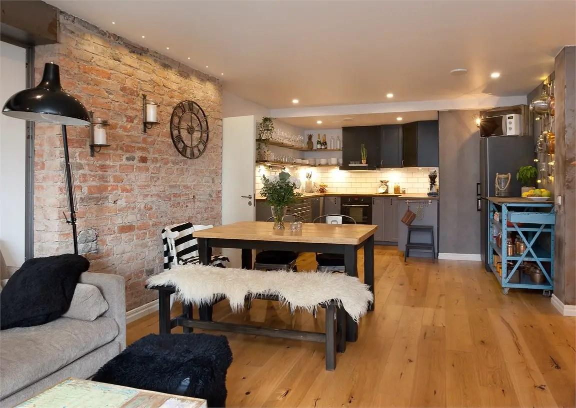 une d co industrielle soft et vintage en su de planete. Black Bedroom Furniture Sets. Home Design Ideas