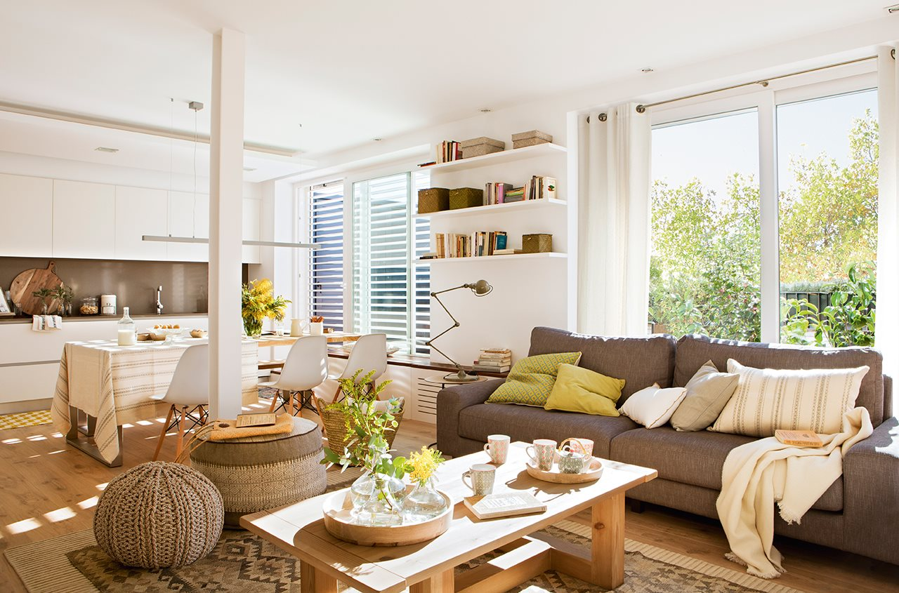 Design naturel pour un appartement avec terrasse