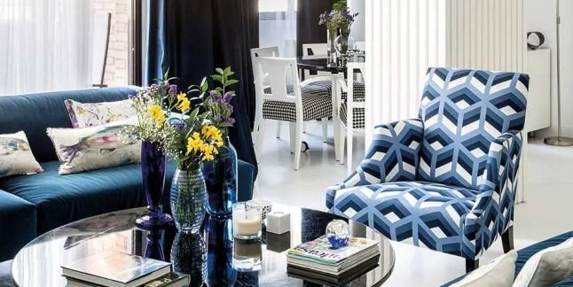 L'appartement bleu d'une designer d'intérieur