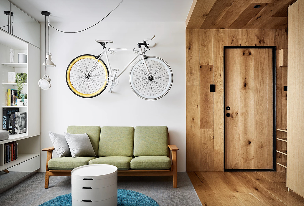 Un mini appartement astucieux par Tsai Design
