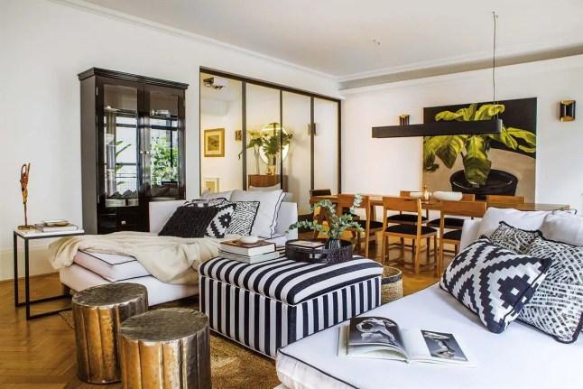 Design noir et blanc pour un appartement d'architecte