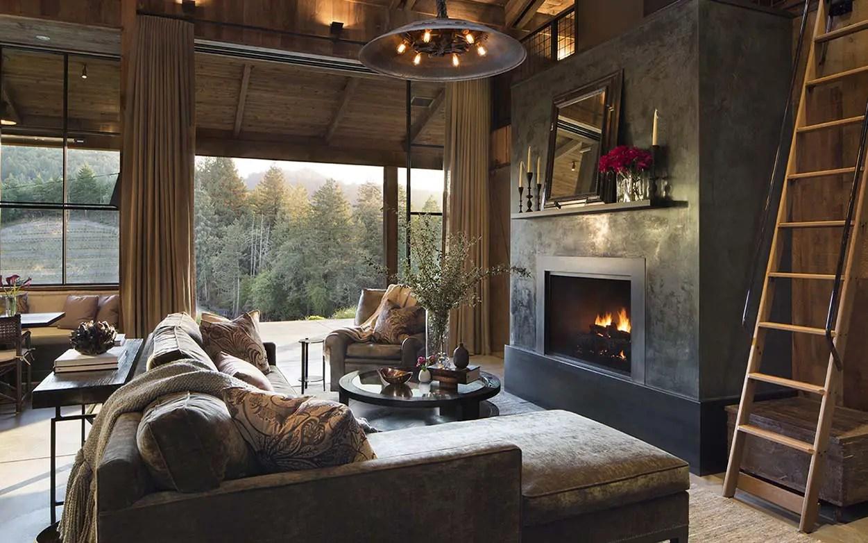 Une chaleureuse maison en bois dans la Napa Valley