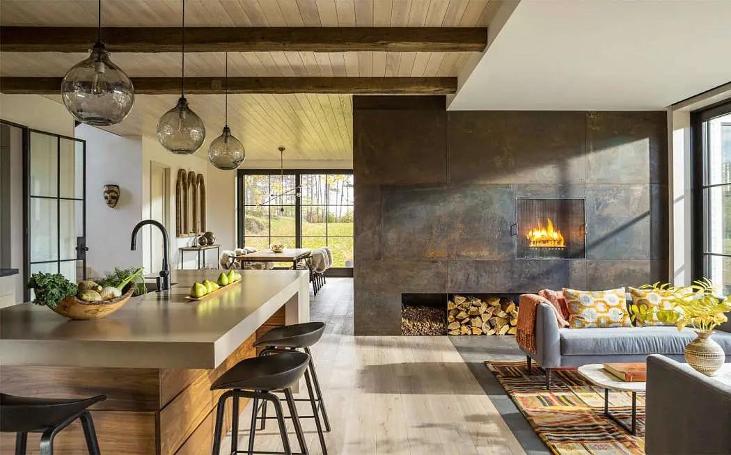 Une maison familiale moderne dans le Vermont