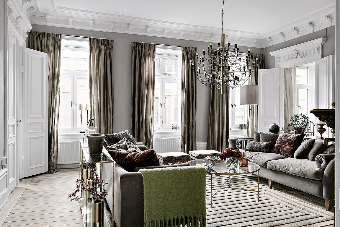 Design classique et contemporain dans un appartement