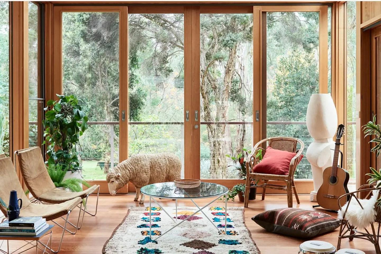 Une maison comme un refuge dans le bush australien