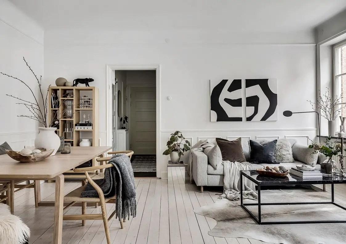 Un appartement au design parfait dans un immeuble ancien