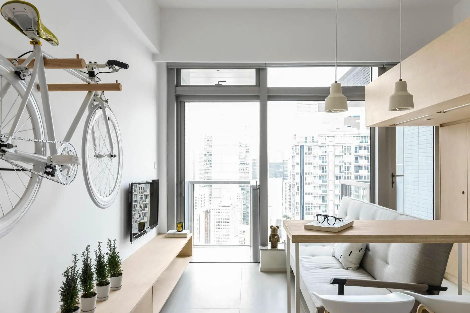 Ce petit appartement de 30m2 à Hong Kong est un exemple de design intelligent et beau