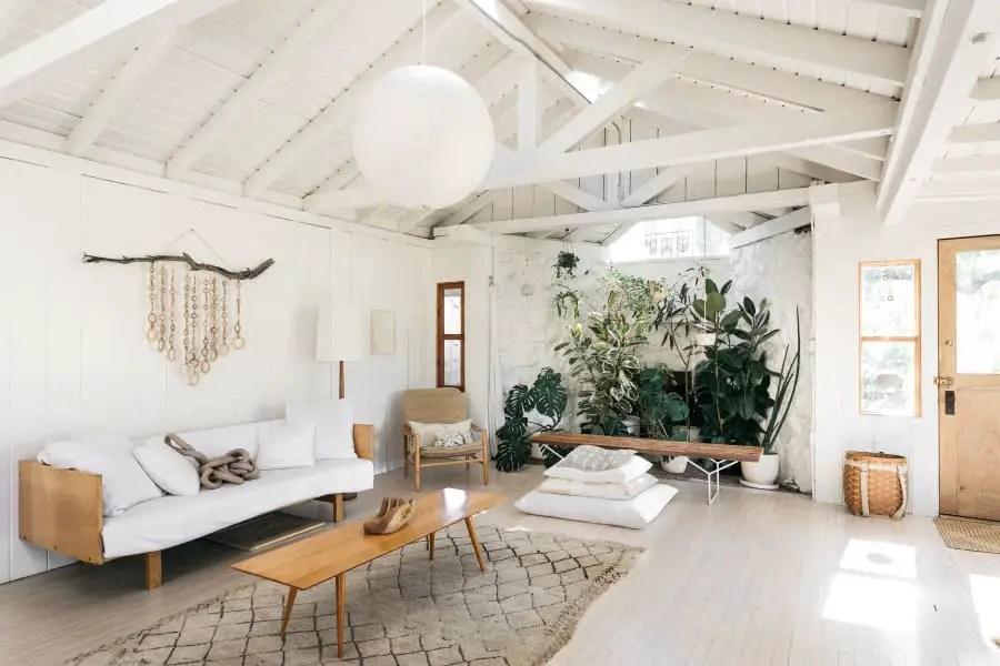 Une maison blanche pour une designer en Californie