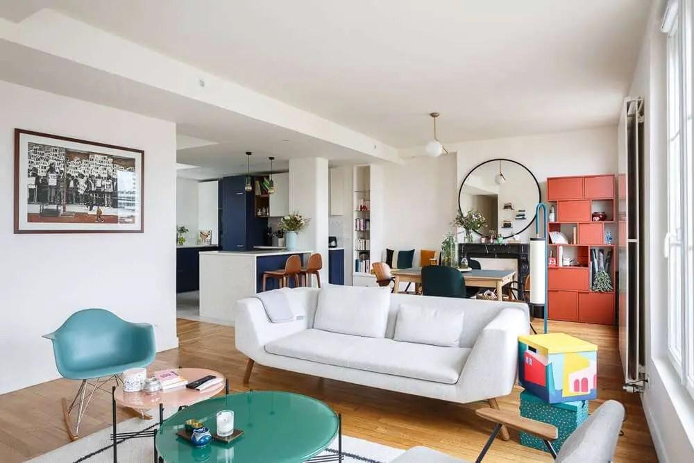 La rénovation d'un appartement en couleurs fortes à Paris - PLANETE DECO a homes world