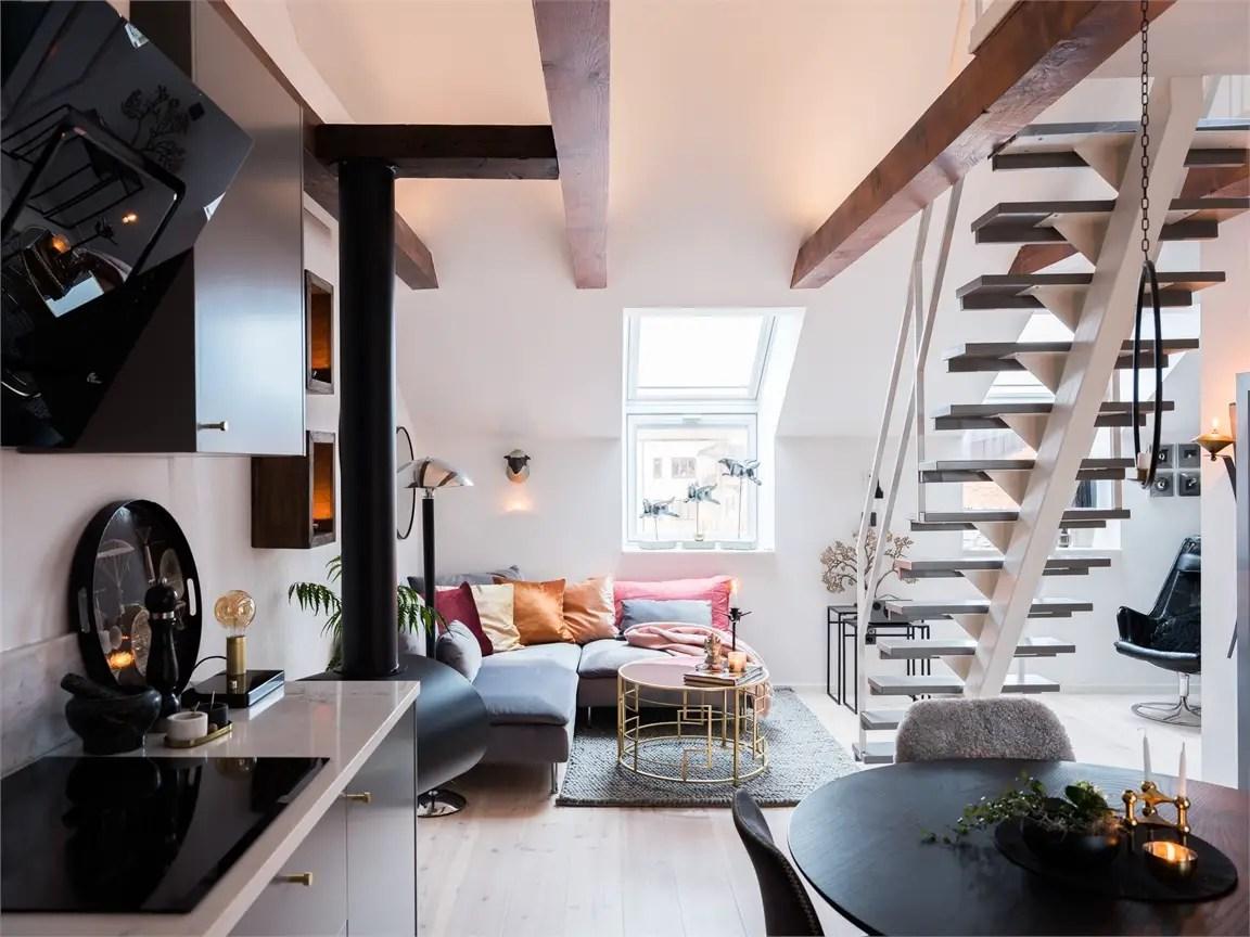 Ce petit appartement en duplex de 35m2 a une grande terrasse - PLANETE DECO a homes world
