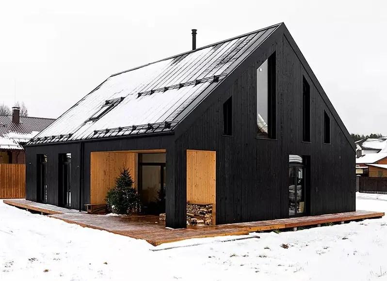 Une maison en bois noir près de Saint-Pétersbourg - PLANETE DECO a homes world