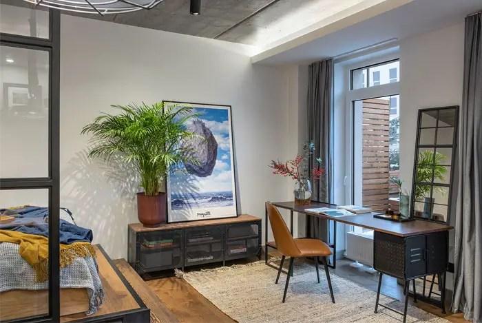 La création d'une chambre séparée dans un studio de 40m2 au style industriel - PLANETE DECO a homes world