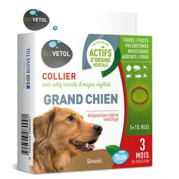 Collier anti INSECTe Biovétol grand CHIEN