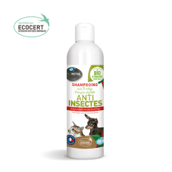 shampooing anti insectes bio chien chat biovétol