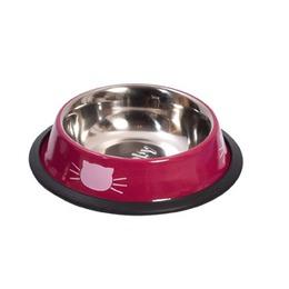 gamelle tête de chat rose bobby