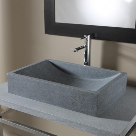 Vente Vasque A Poser Rectangulaire Vasques Grise Ardoise