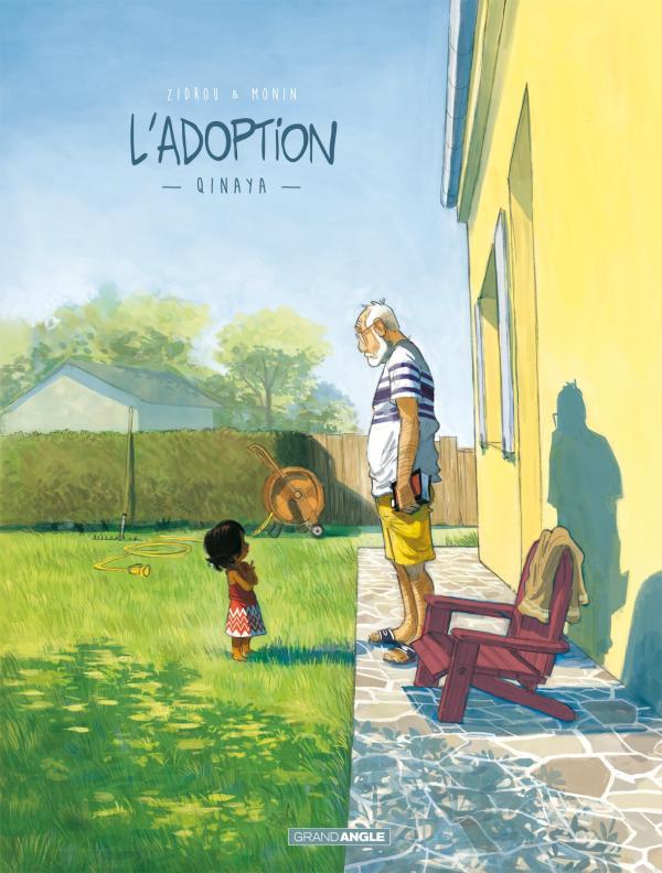 petite fille noire face à son grand-père dans un jardin