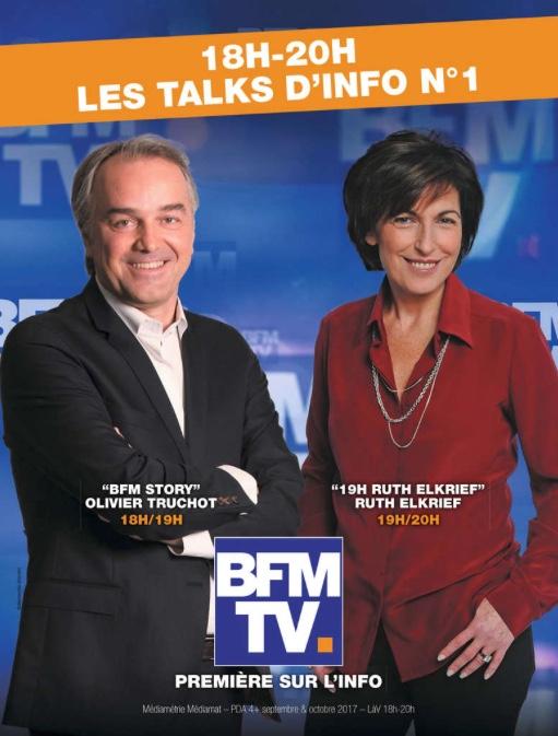Campagne presse BFM TV décembre 2017