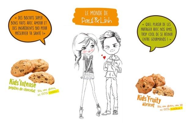 Paul & Linh, la gamme de goûters pour enfants sains, bio et sans gluten !