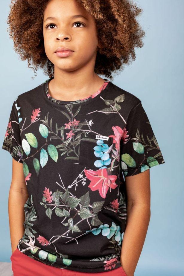 T-shirt motif tropical garçon