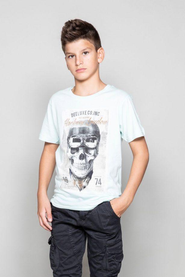 T-shirt motif tête de mort vintage