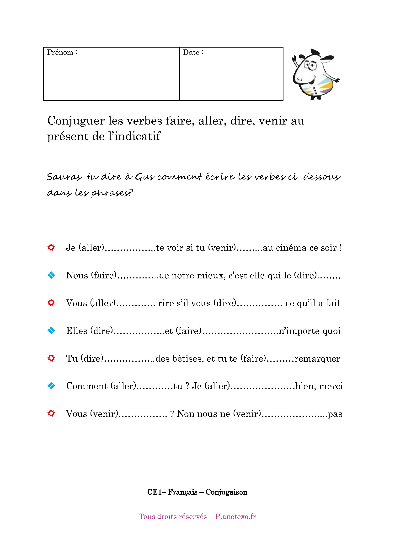 Conjugaison Verbe Dire Au Present De L Indicatif
