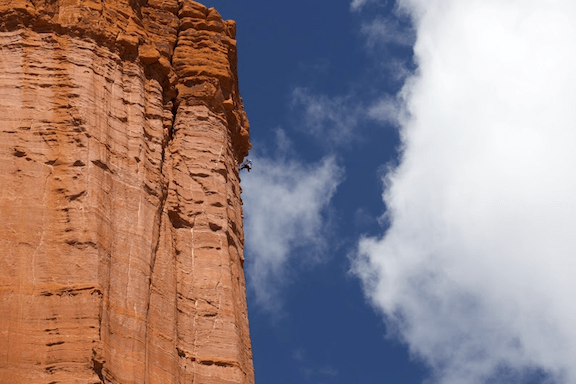 Scaling a desert tower (Source: the Honnold Foundation)