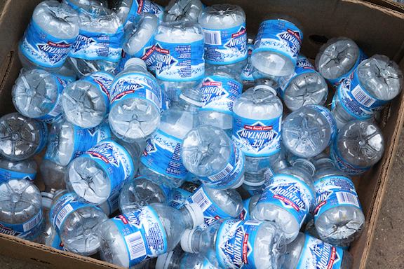 Plastic bottles can contain traces of BPA, which leach out when the plastic is heated.
