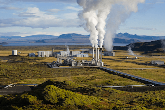 The Nesjavellir Geothermal Power Station in Iceland