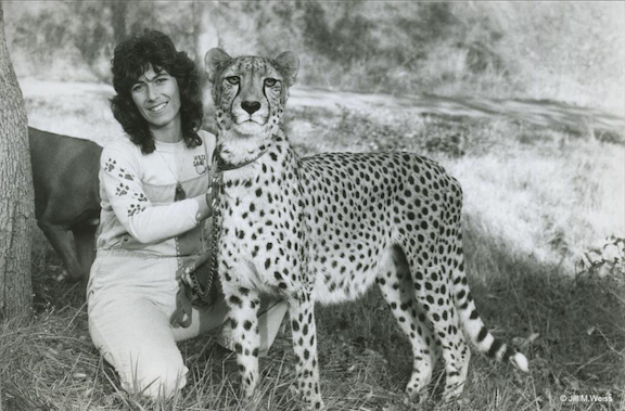 Khayam and Dr. Laurie Marker in 1977 (Image courtesy of CCF)