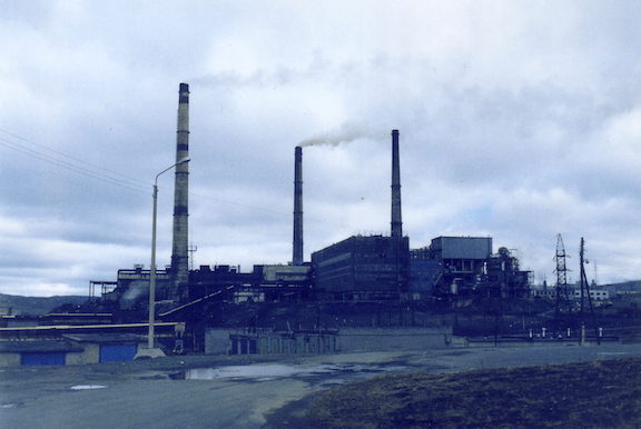 Norilsk Nickel Plant in Nikel (Source: Creative Commons)