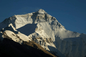 The north face of Mount Everest, from Rongbuk in Tibet (Image Credit: Carsten Nebel)