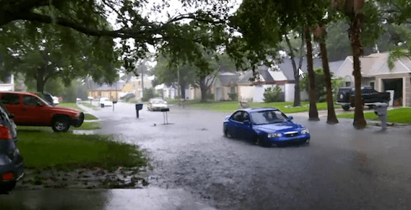 A street flooding in St. Petersburg, Florida, during Tropical Storm Debby in 2012. (Image: WikiMedia Commons)