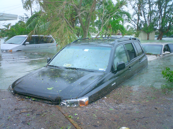 Flooding near Key West, Florida, United States from Hurricane Wilma's storm surge in October 2005. (Image Credit: Marc Averette)