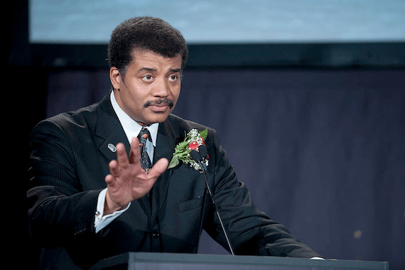 Neil DeGrasse Tyson, Director of the Hayden Planetarium, speaking at the Apollo 40th anniversary celebration in 2009. (Image Credit: Bill Ingalls / NASA)