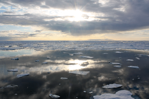 Sea ice in the Chukchi Sea, Alaska. (Image Credit: NOAA)