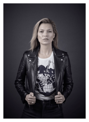 Model Kate Moss has joined the campaign. (Photo Credit: Andy Gotts MBE)
