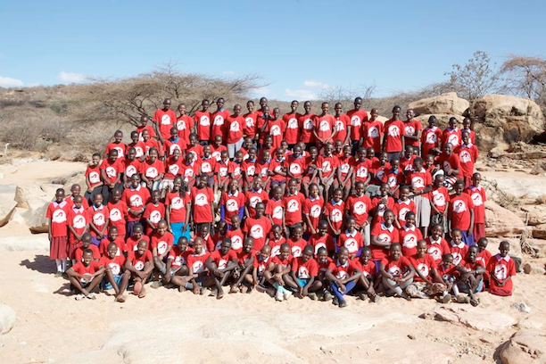 Here are ALL 122 kids from the past 3 years who have attended our Lion Kids Camps. (Photo: Tony Allport via Ewaso Lions)